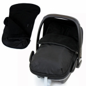 Universal Car Seat Footmuff To Fit Graco Junior Baby - Black