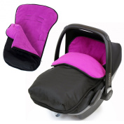 Universal Car Seat Footmuff To Fit Graco Junior Baby - Plum