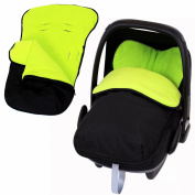 Universal Car Seat Footmuff To Fit Graco Junior Baby - Lime