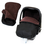 Universal Car Seat Footmuff To Fit Graco Junior Baby - Hot Chocolate