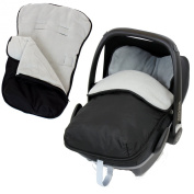 Universal Car Seat Footmuff To Fit Graco Junior Baby - Grey