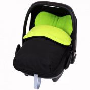 Universal Car Seat Footmuff To Fit Maxi Cosi Cabrio - Lime