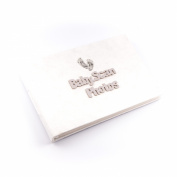 Baby Scan Photos - Photo album with delicate footprint design - soft white