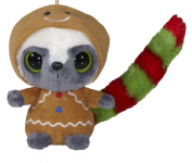 Gingerbread Man with Applique Detail Style Bauble Childs Hanging Decoration