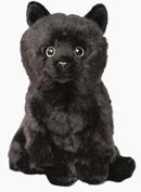Floppy BLACK Cat Soft Cuddly Plush furry Toy 30cm