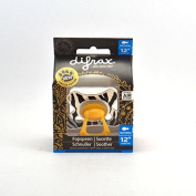 Difrax Semi Filled Natural Soother 12 Months and Above, Zebra