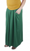 Maternity Casual everyday elegant Maxi Skirt Over Bump 3048A