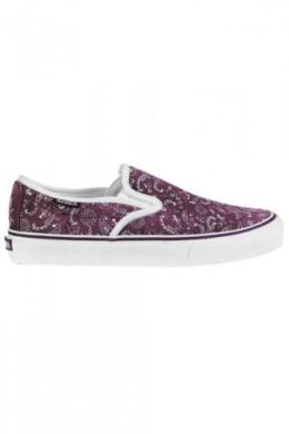 C1RCA Skateboard Shoes Slip On ALW50 Girls Bordo/White Paisley