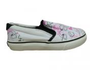 Osiris Skateboard Shoes Slip On Scoop Girls White/ Pink /Black