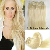 Romantic angels clip-in-extensions for complete hair extension - high quality remy human hair - 120 g - 50 cm, colour