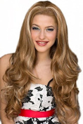 Brown & Blonde Half Wig Hair Piece with Loose Waves