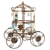 MyGift Cinderella Rotating Carriage Jewellery Storage / Earring Organiser / Bracelet Necklace Hanger Display Stand