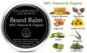 No.1 Fresh Scent Beard Balm Natural Organic by Hamilton Jackson - The Best Beard Softening Conditioner for Men - Easy-to-Use Leave-in Beard Conditioner - Handcrafted in London
