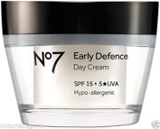 BOOTS No7 EARLY DEFENCE DAY CREAM VITAMIN A (3800)50ML SPF15 BNIB