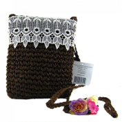 Women New Casual Lace Straw Weave Square-Shaped Shoulder Crossbody Bags
