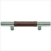 Atlas Homewares 280-OW/CH 136-mm Zanzibar Leather Pull, Polished Chrome