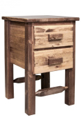 Montana Woodworks Homestead Collection 2-Drawer Nightstand/End Table, Stain and Lacquer Finish