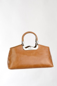 WALTER VALENTINO Handbag made in Italy W230, genuine Leather, handmade, 38x20x13 cm , cognac, Topp-Handle, Shoulder-bag