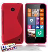 """Muzzano Cover Case Original Flexible Ultra-Thin Pink """"Le S"""" Premium Cover for NOKIA LUMIA 635 3 UltraClear """"Screen Protectors"""