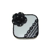 [BLACK ROSE Lace] Special DIY Contact Lenses Box Case/Holders Container