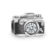Soufeel 925 Sterling Silver. Crystal Vintage Camera Charm Fit Brands Charm European Charms Bracelets