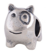 Women's Bead for Pandora Jewellery 925 Sterling Silver in Form of English Bull Terrier