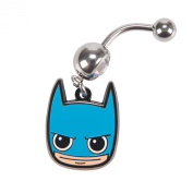 DC Comics Batman Smile 14G Stainless Steel Belly Button Ring