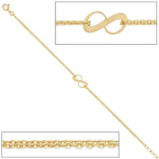 Bracelet women 375 yellow gold 9 ct length 19 cm can be shortened to 17 cm width 073cm