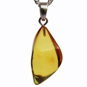 Beautiful Baltic Honey Amber Pendant with sterling silver hoop. Comes with lovely gift box.