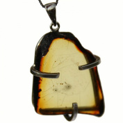 Unique Chunky Baltic Amber Pendant 1741 with sterling silver fittings. Capture the warmth of Amber. Comes with lovely gift box.