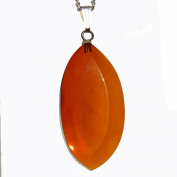 Baltic Amber Faceted Pendant 'DROP' with sterling silver fittings. Capture the warmth of Amber. Comes with lovely gift box.