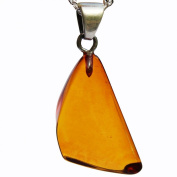 Beautiful Baltic Cognac Amber Pendant with sterling silver hoop. Comes with lovely gift box.