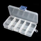 Ardisle Clear Plastic Craft Beads Jewellery Storage Organiser Compartment Tool Box Case