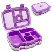Bentgo Kids Children's Lunch Box - Bento-styled Lunch Solution Offers Durable, Leak-proof, On-the-go Meal and Snack Packing