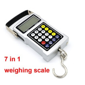 50Kg/20g Portable LCD FishHook Digital Hanging Pocket Luggage Weighing Weight Scale