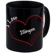 "Mug with ""I Love Illingen Modern Black"