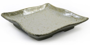 Beige Glazed Japanese Ceramic Square Plate