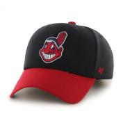 "Cleveland Indians 47 Brand MLB ""MVP"" Structured Adjustable Hat - Navy/Red"