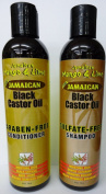 JAMAICAN MANGO & LIME BLACK CASTOR OIL sulphate FREE SHAMPOO & PARABEN FREE CONDITIONER 237ml **DEAL**