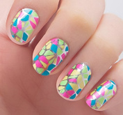 Nail Art Stickers Decals With Coloured Fragment Nail Sticker Tatto - FashionLife