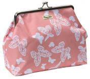Primrose Hill All of a Flutter Kisslock Cosmetic Bag, Peach