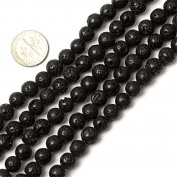 Sweet & Happy Girl'S Store Round Gemstone Black Agate Buddha Beads Strand 38cm Jewellery Making Beads