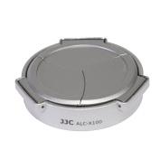 JJC ALC-X100S Auto Lens Cap for Fujifilm X100/X100S/X100T - Silver