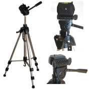 """Ex-Pro TR-570AN Professional Photographic Camera Tripod for Canon EOS 350D - (620mm - 1700mm / 67"""") Light Weight, Full Geared system, Fluid Pan Head, 3 Section Lock Legs, Spirit Level, Fast Instal, Quick Release, High Quality."""