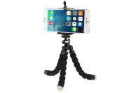 Fone-Stuff soft padded portable flexible mini octopus tripod adjustable adapter mount holder for mobiles phones and cameras GoPros