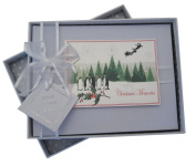 White Cotton Cards Christmas Memories Christmas Trees and Penguin Range Small Photo Album