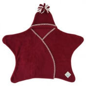 Tuppence and Crumble Star Baby Wrap Raspberry Small