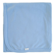 Tuppence and Crumble Organic Cotton Baby Shawl Blanket Sky Blue