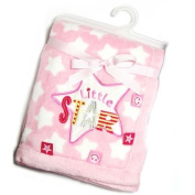 Soft Touch - Little Star Soft Fleece Pram Blanket Pink - 76 x 102cm