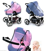 MOSQUITO NET with ZIP Ideally adapts to the shape of any pram strollers BABYLUX